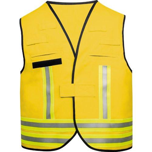 MeierMed Kennzeichnungsweste mit Rückenflausch | Farbe: Gelb