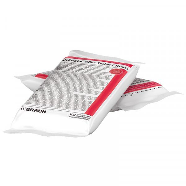 B. Braun Meliseptol® HBV Flächen-Desinfektionstücher | Nachfüllbeutel mit 100 Tücher