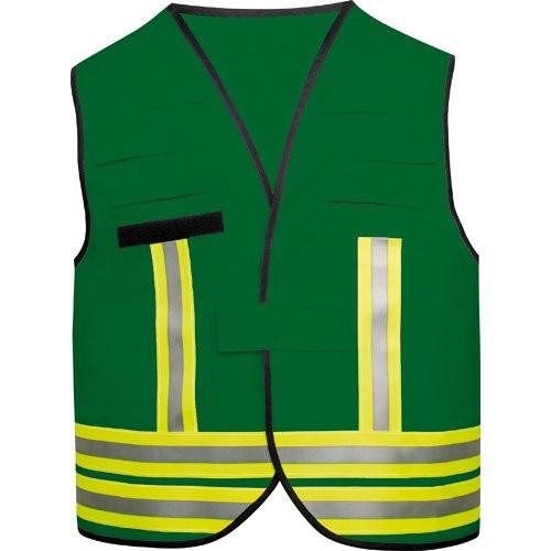 MeierMed Kennzeichnungsweste mit Rückenflausch | Farbe: Grün