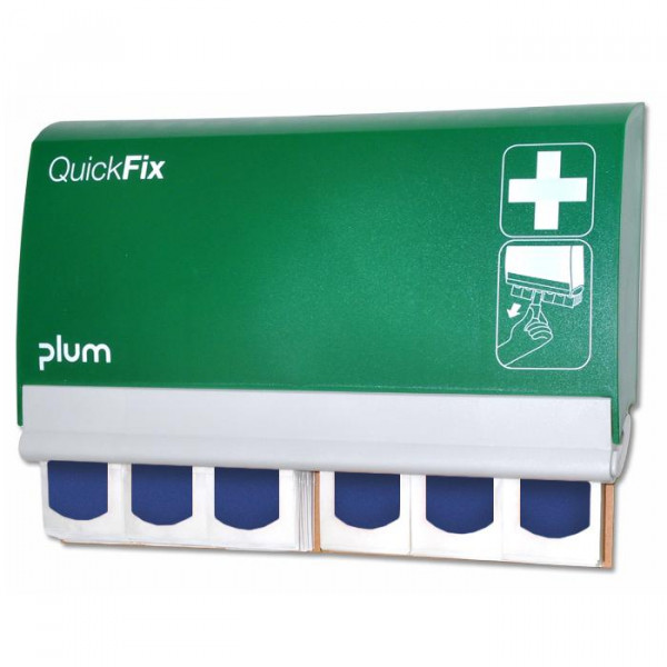 PLUM QuickFix Pflasterspender - inkl. 2 x 45 Pflaster - Detectable