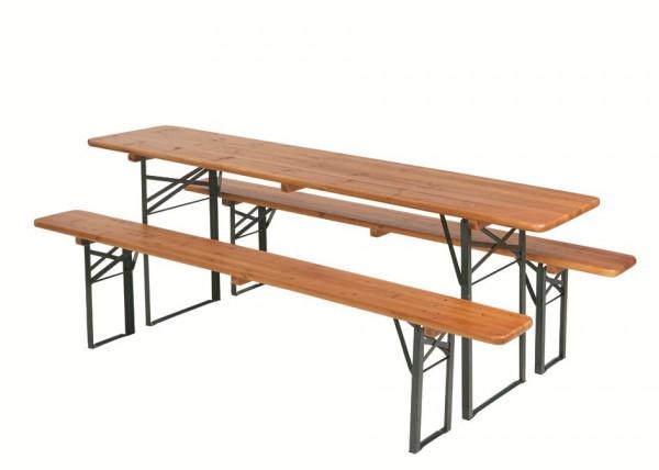 MeierMed Zeltgarnitur - bestehend aus 1 Tisch und 2 Bänken