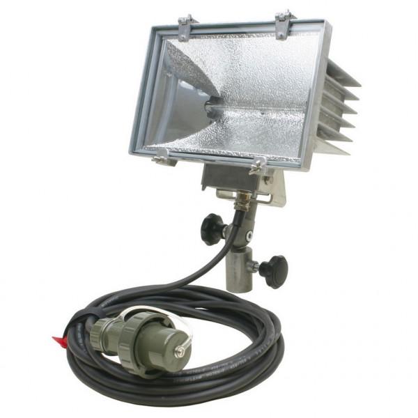 MeierTec Halogen-Flutlichtstrahler THW-Version mit Griff   Anschlusskabel: 7 Meter