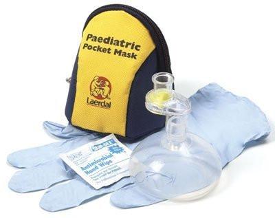 Laerdal® Pocket Mask™ | Paediatric | mit Ventil und Filter im blau-gelben Softpack