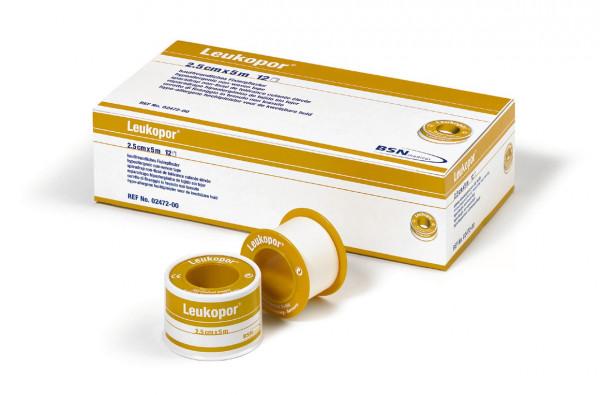 BSN medical Leukopor® Rollenpflaster   5 cm x 5 m   Packung á 6 Stück
