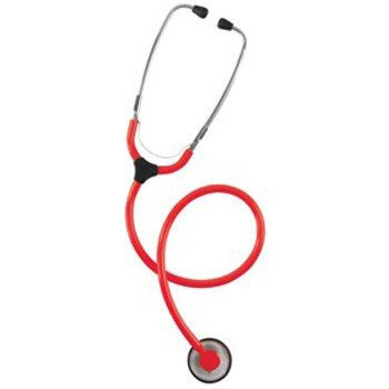 KaWe COLORSCOP® Plano Stethoskop mit Namensschild - Farbe: Rot