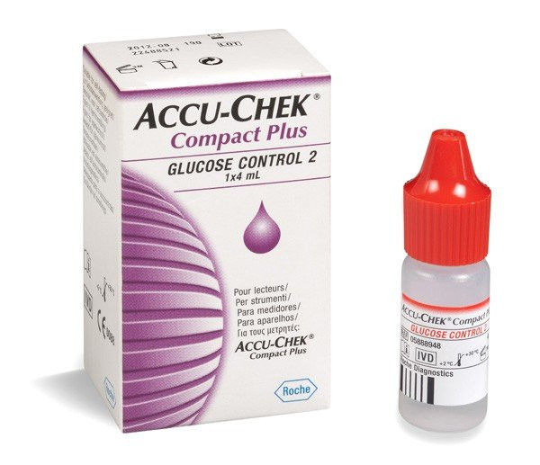 ROCHE Accu-Chek® Kontrolllösung Control 2 | Compact Plus | Menge: 4 ml