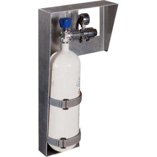 PAX® Sauerstoffflaschenhalterung Metall 2 Liter   Material: Aluminium   Farbe: Grau