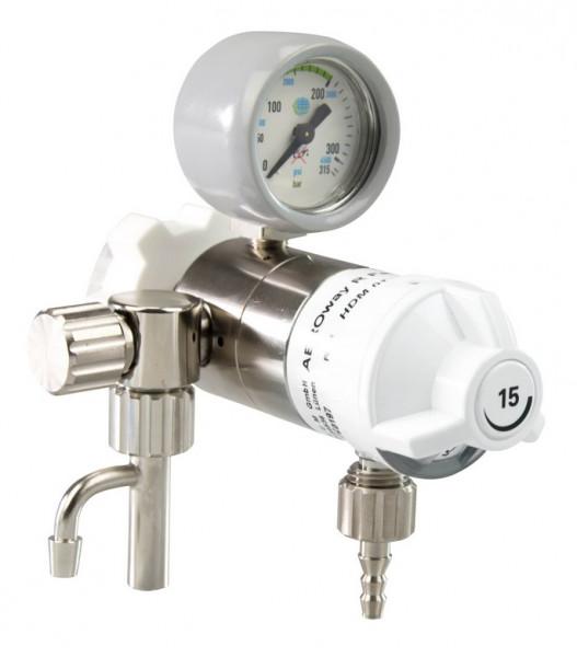 AEROway® FAST 15-V Sauerstoff Druckminderer mit Abgang Absaugung