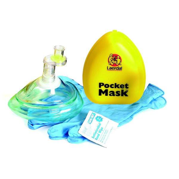 Laerdal® Pocket Mask™ | Das Original | mit Ventil und Filter im gelben Etui