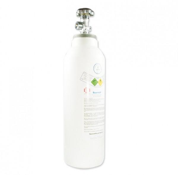 MeierMed Sauerstoff-Flasche O2 gefüllt mit Restdruckventil - Größe: 5 Liter