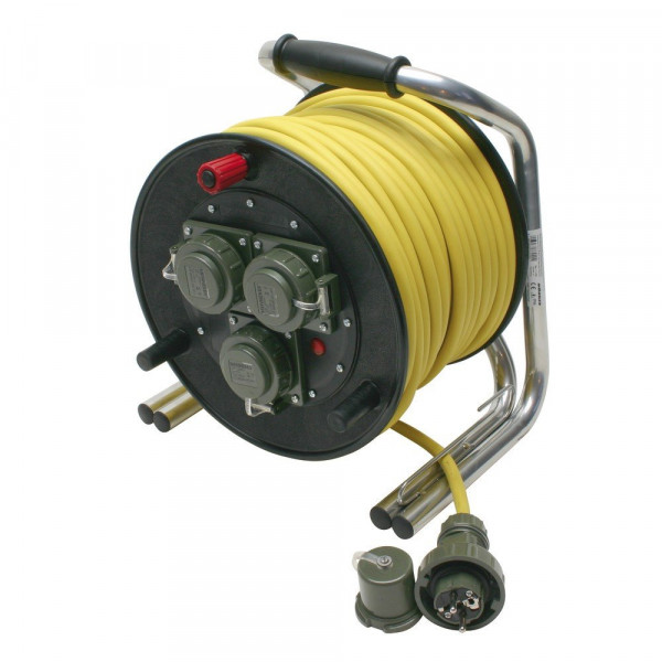 Mennekes® FW Vollgummi Leitungsroller | Kabeltrommel - 230 V | 16 A - Länge: 50 m