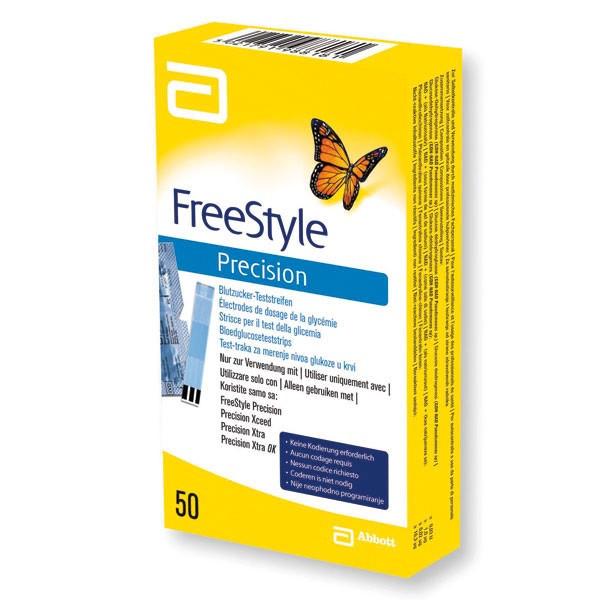 Abbott FreeStyle Precision™ Blutzucker-Teststreifen | XTRA-PLUS / Xceed® | Packung mit 50 Stück