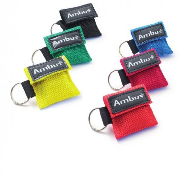 Ambu® LifeKey® im Nylon-Softcase Schlüsselanhänger - Farbe: Rot