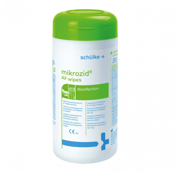schülke mikrozid® AF wipes Desinfektionstücher | 150 Tücher | Spenderdose