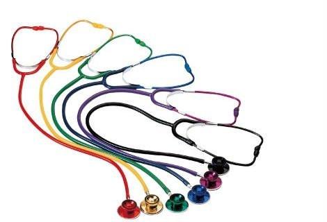 MeierMed Doppelkopf Stethoskop für Erwachsene - Farbe: Rot