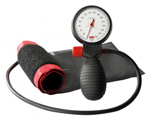 BOSO varius Blutdruckmessgerät Ø 60 mm - mit Klettmanschette - Einschlauch