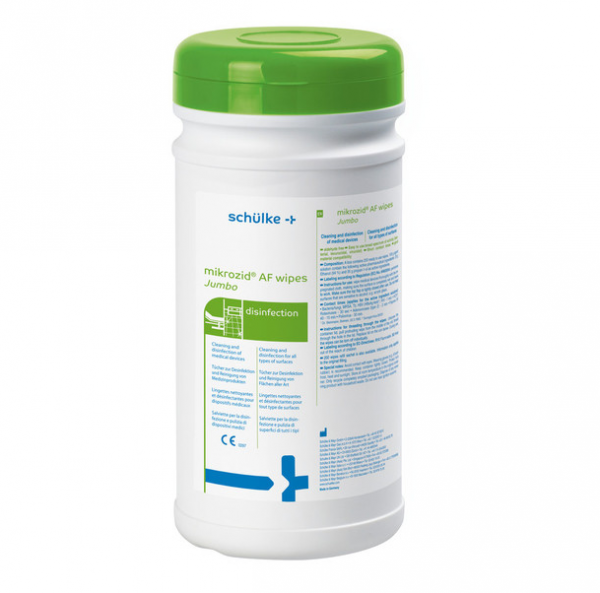 schülke mikrozid® AF Jumbo Desinfektionstücher | Packung á 200 Tücher | Spenderdose
