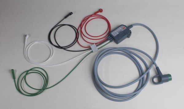 Physio-Control® LIFEPAK® 12 / 15 Stammkabel inklusive Extremitätenkabel - gemäß IEC - Länge: 1,5 Met