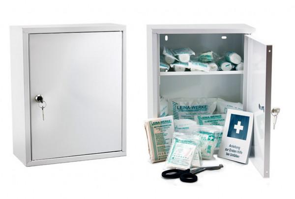 LEINA WERKE Erste-Hilfe Verbandschrank | Medisan A | mit Füllung DIN 13157