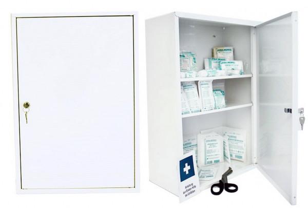 LEINA WERKE Erste-Hilfe Verbandschrank | Medisan D | mit Füllung DIN 13157