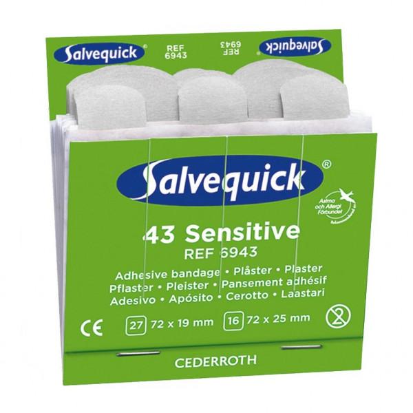 Cederroth® Salvequick® Pflasterstrips REF 6943   Sensitive Vlies   Packung á 43 Stück