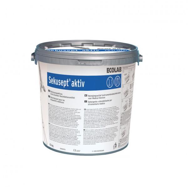 ECOLAB Sekusept® aktiv | 6 Kg Kunststoffeimer mit Messbecher