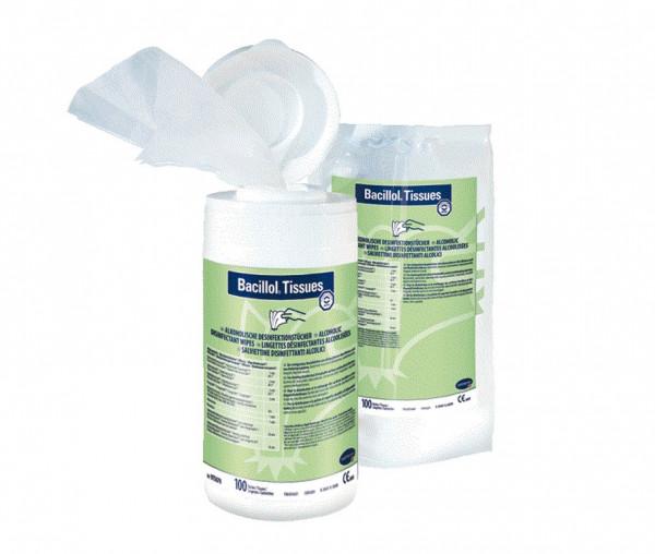 BODE Bacillol® Tissues Flächendesinfektionstücher | Nachfüllbeutel mit 100 Tüchern