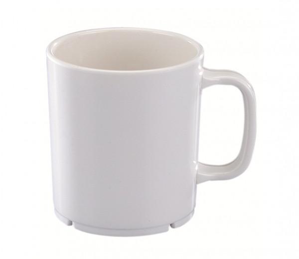 MeierMed Henkelbecher - Inhalt: 380 ml - Farbe: Weiß - Material: Melamin