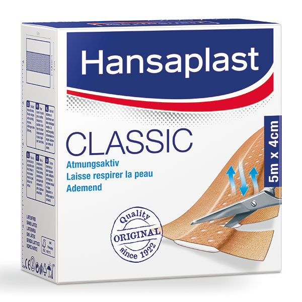 BDF Hansaplast® Classic Wundschnellverband | Größe: 8 cm x 5 m