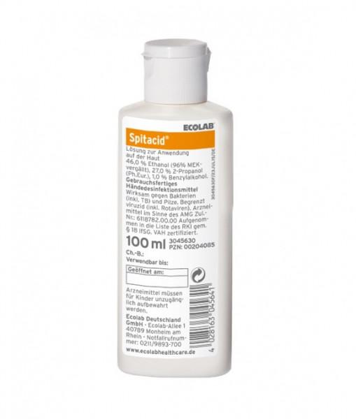 ECOLAB Spitacid™ Händedesinfektion   100 ml Flasche