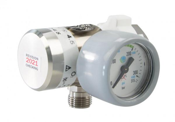 AEROway Fix II Sauerstoff Druckminderer | 180 l /min | 4,5 bar | Rechts