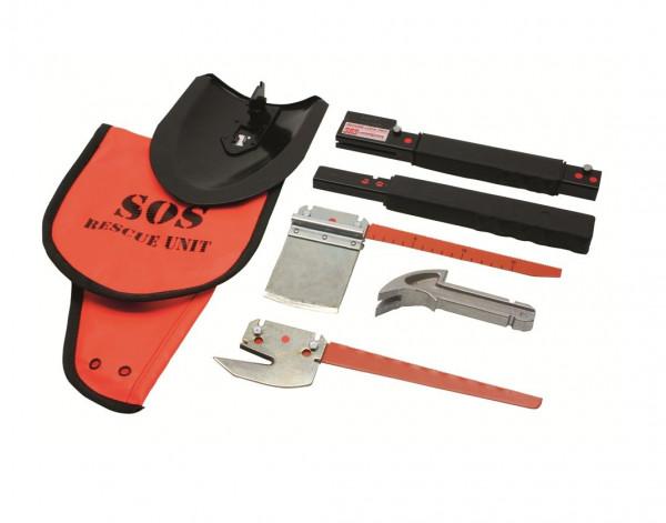 MeierTec SOS Rescue-Tool Kit - Multifunktionstool 6-teilig im Holster