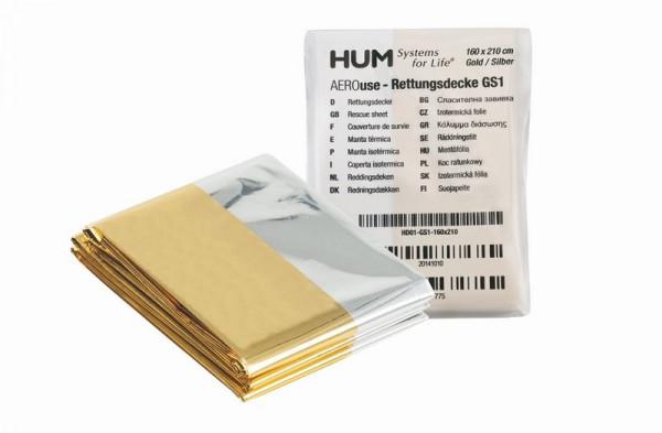 AEROuse® Rettungsdecke / Survivaldecke | Farbe: Gold / Silber