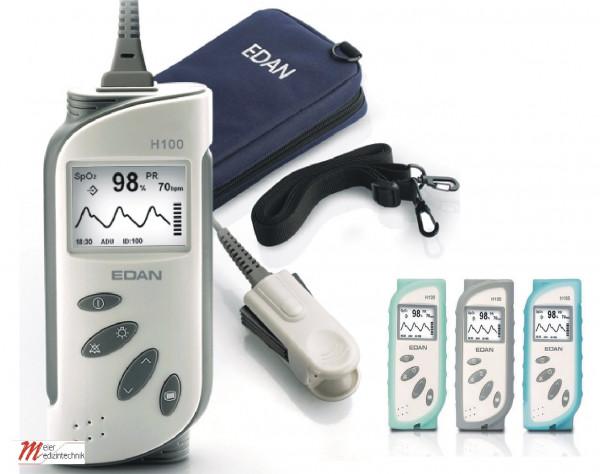 EDAN Hand-Pulsoximeter H100B - Pulsoximeter Set mit Schutzhülle