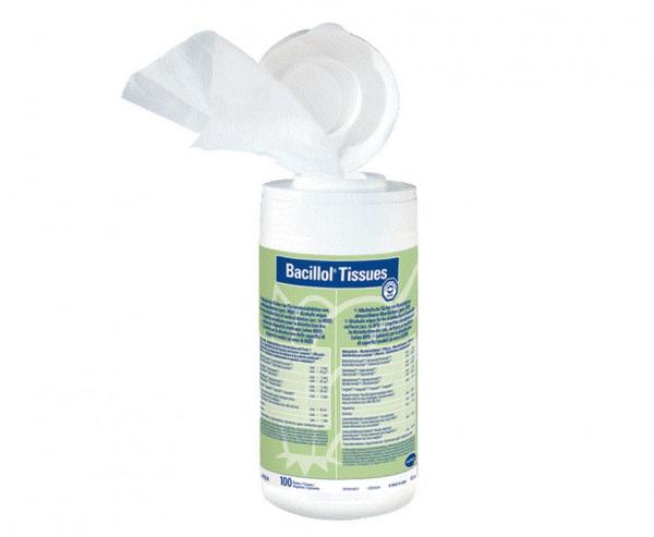 BODE Bacillol® Tissues Flächendesinfektionstücher | Spenderdose mit 100 Tüchern