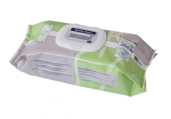 BODE Mikrobac® Tissues Schnell-Desinfektionstücher | Packung á 80 Tücher | Flowpack