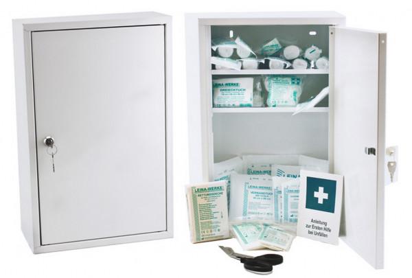 LEINA WERKE Erste-Hilfe Verbandschrank | Medisan B | mit Füllung DIN 13169