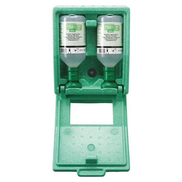 PLUM Augenspülstation - Wandstation geschlossen mit zwei 500ml Flasche