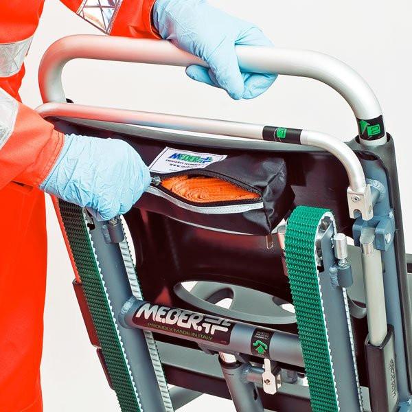 MEBER® Stirngurt orange/schwarz für Tragestuhl Typ EXTRA
