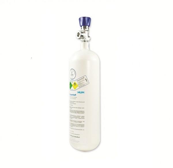 MeierMed Lachgas-Flasche (N²O) gefüllt mit Restdruckventil - Größe: 2 Liter