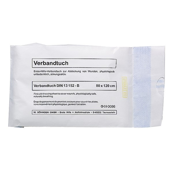 SÖHNGEN® Verbandtuch DIN SO DIN 13152-BR | Größe: 80 cm x 120 cm