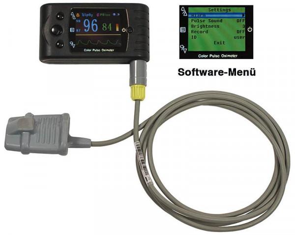 Hand-Pulsoximeter CMS60C mit Pulston & Alarmgrenzen