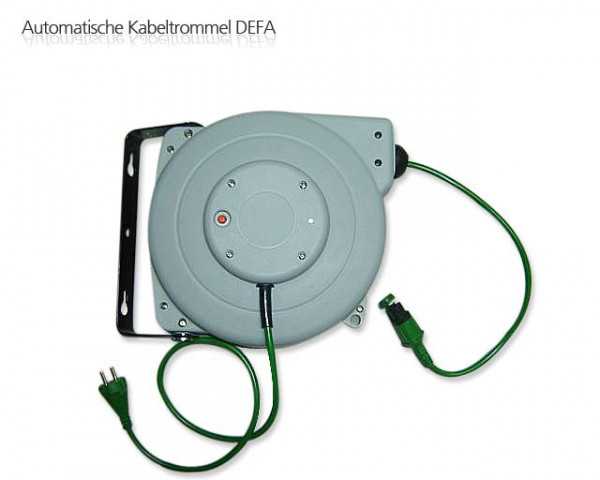 DEFA Automatische Kabeltrommel - Grün - Länge: 10 Meter