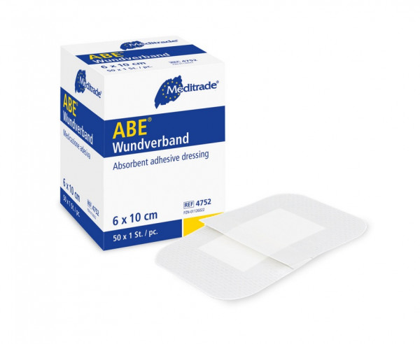 ABE® steriler Wundverband   Größe: 10 cm x 6 cm   Packung á 50 Stück