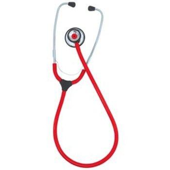 KaWe COLORSCOP® Duo Stethoskop mit Namensschild - Farbe: Rot