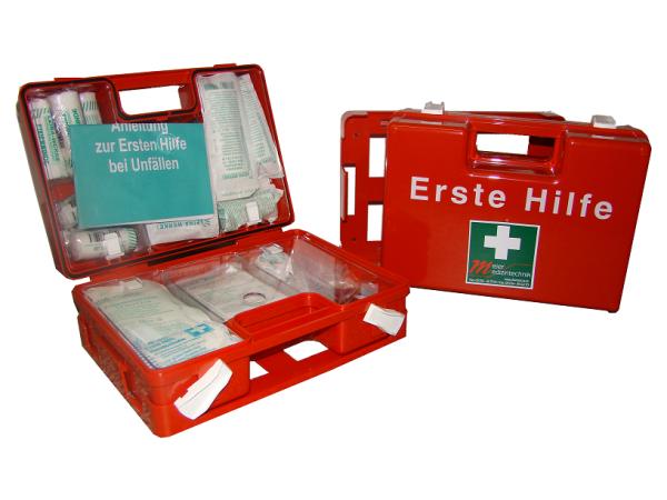 MeierMed Erste-Hilfe-Koffer | QUICK | inkl. DIN 13157 Söhngen | Farbe: Orange