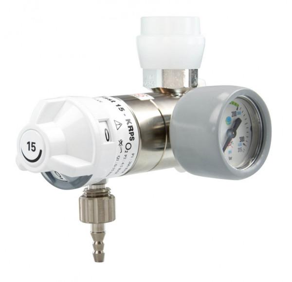 AEROway® FAST 15-KRPS Sauerstoff Druckminderer | Anschlußseite: Rechts