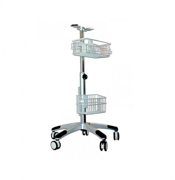 medical ECONET Fünf - Fuß Roll-Stativ für Compact Monitore