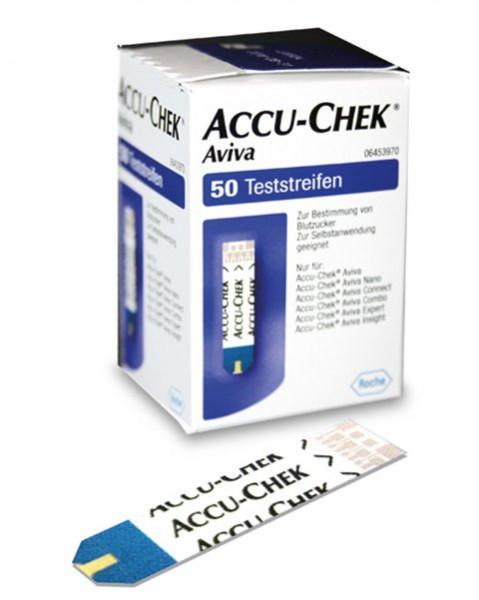ROCHE Accu-Chek® Aviva Teststreifen | plasmakalibriert | Packung mit 10 Stück