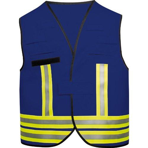 MeierMed Kennzeichnungsweste mit Rückenflausch | Farbe: Blau